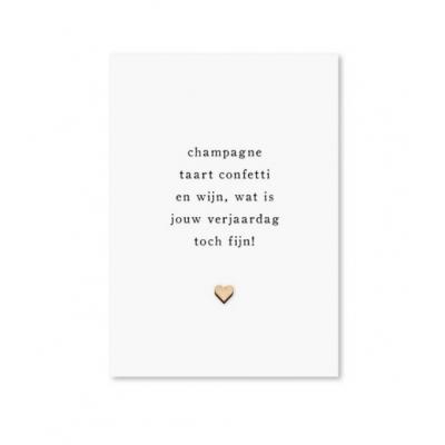 Kaarten   Champagne verjaardag